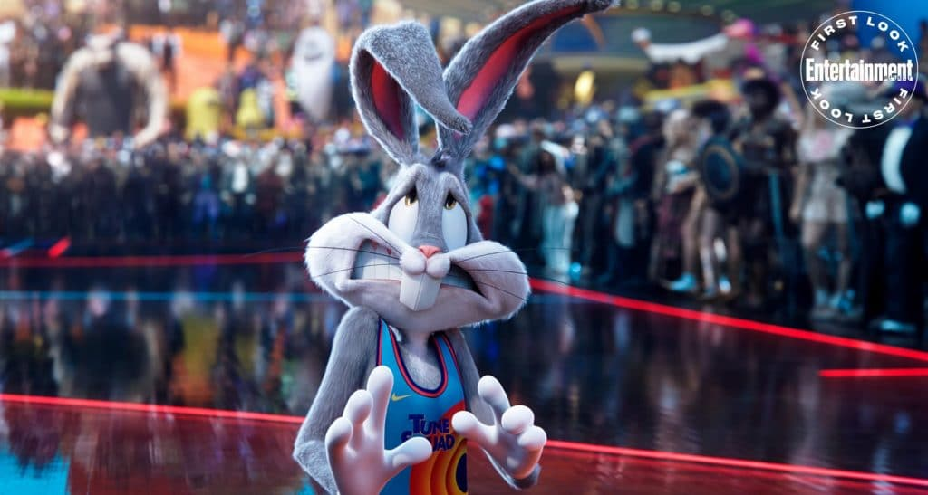 """O Pernalonga é um dos desenhos a aparecerem no filme """"Space Jam 2: A New Legacy"""", ao lado de LeBron James. Imagem: Warner Pictures/Divulgação"""