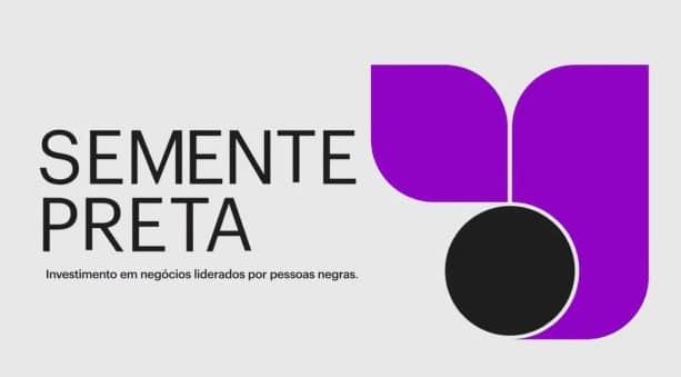 Imagem mostra o logo do fundo de investimentos do Nubank para empreendedores negros, o Semente Preta