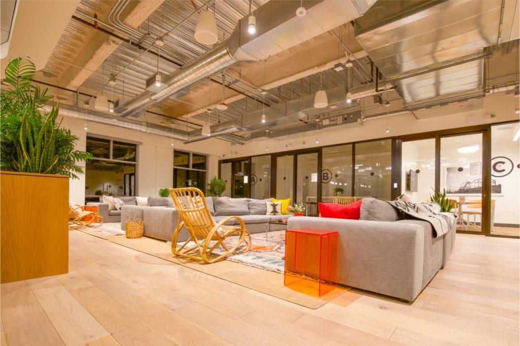Imagem mostra escritório da WeWork em Las Vegas
