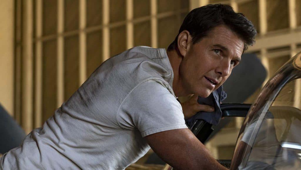 Foto de divulgação de 'Top Gun 2' (ou 'Top Gun: Maverick'), estrelando Tom Cruise. Imagem: Paramount Pictures/Divulgação