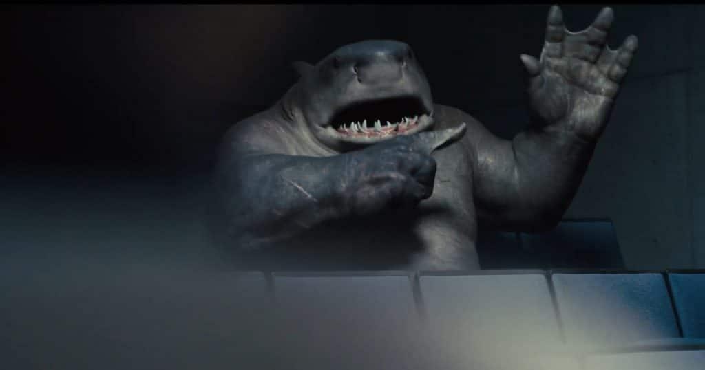 Sylvester Stallone faz a voz do Tubarão-Rei em 'O Esquadrão Suicida'. Imagem: Warner Bros/DC Comics