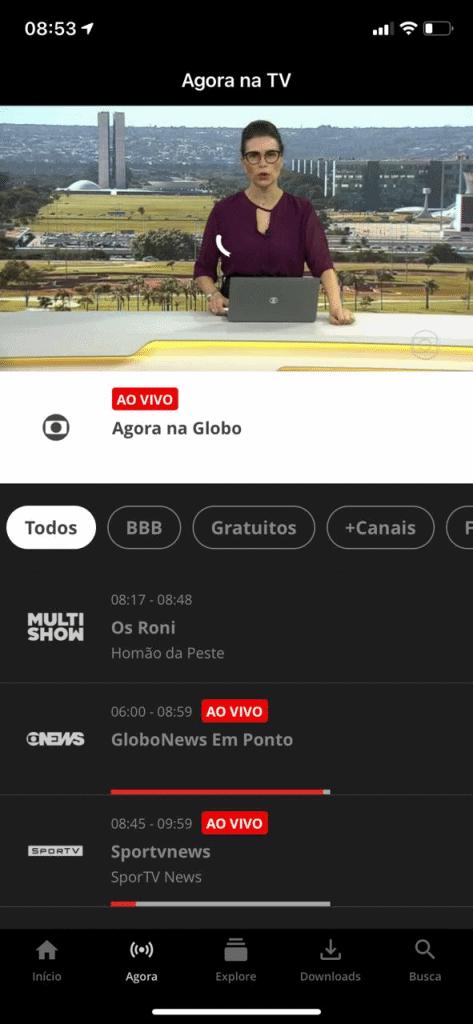 ver globoplay en vivo a través de la aplicación móvil ver en la televisión
