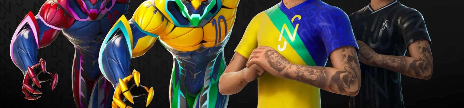 Neymar em Fortnite. Imagem: Epic Games/Divulgação