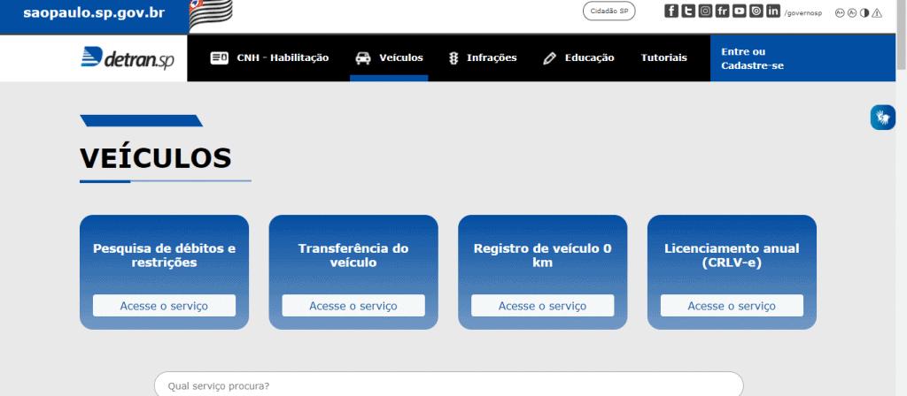Detran.SP: aprenda a investigar posibles restricciones de vehículos para la compra. Imagen: Detran SP / Reproducción