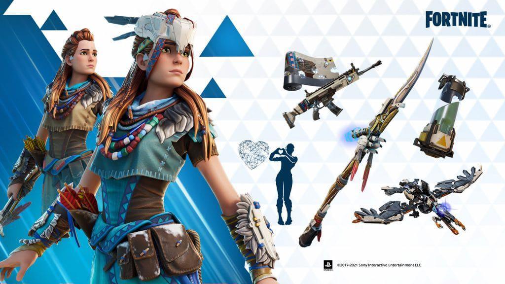 Aloy, de 'Horizon Zero Dawn', será personagem jogável em 'Fortnite'. Imagem: PlayStation/Divulgação