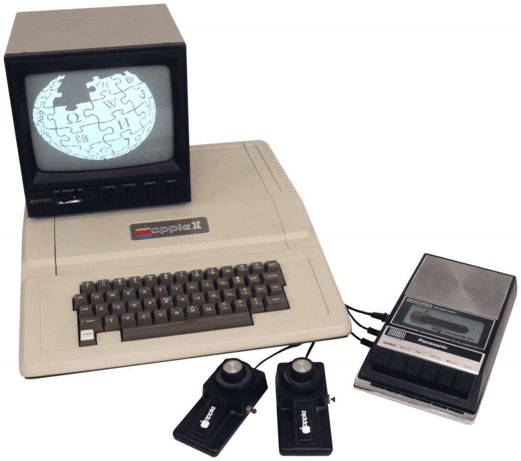 Apple II em uma configuração
