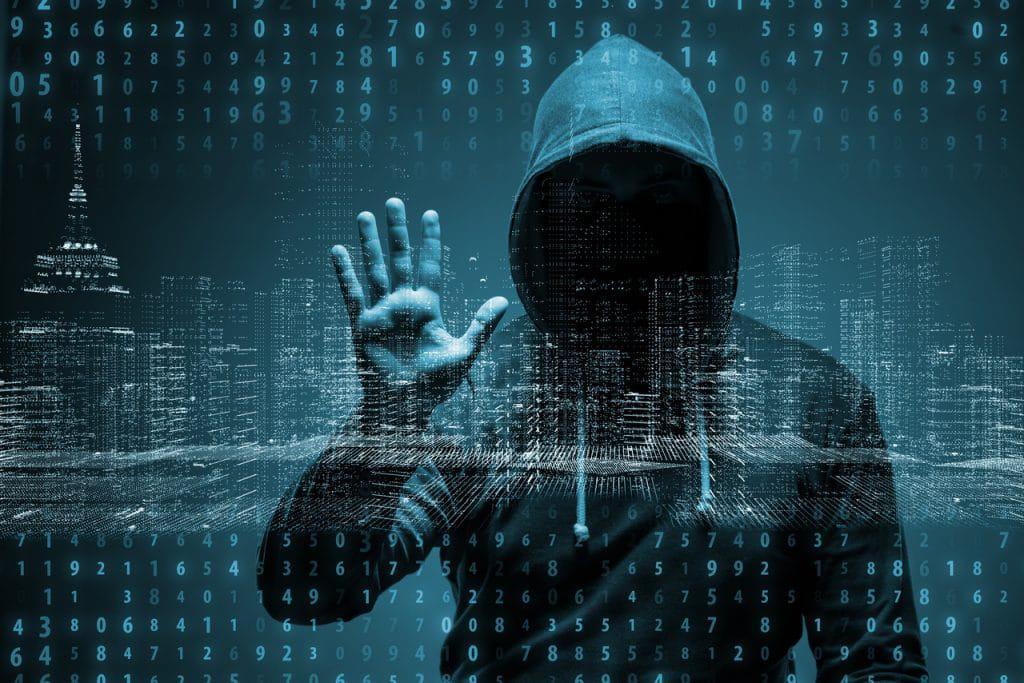 Ilustração de cibercriminoso