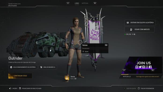 El error en 'Outriders' hace que el jugador pierda todo el inventario. Imagen: Reproducción / Redes sociales