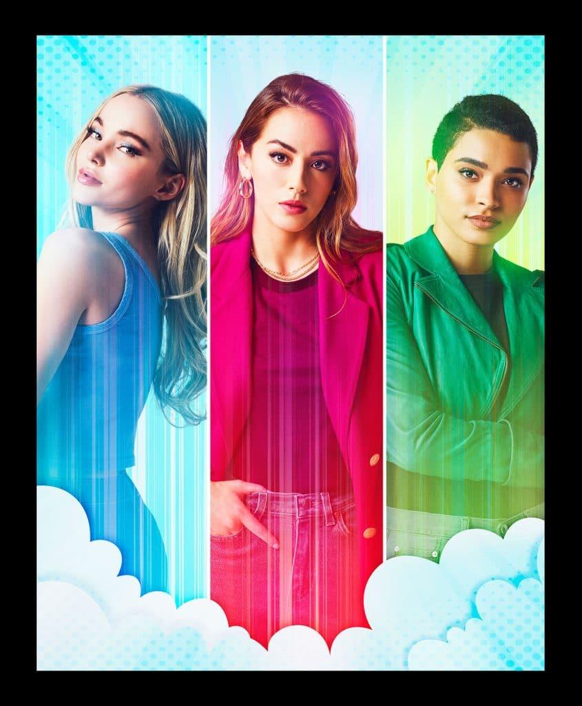 Florzinha, Lindinha e Docinho em 'Powerpuff', a série live-action de 'As Meninas Superpoderosas'. Imagem: James Acomb/The CW