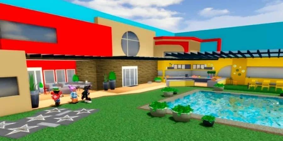 Casa do BBB 20 foi recriada no 'Roblox'; jogadores atuam como brothers e sisters. Imagem: Reprodução/Roblox