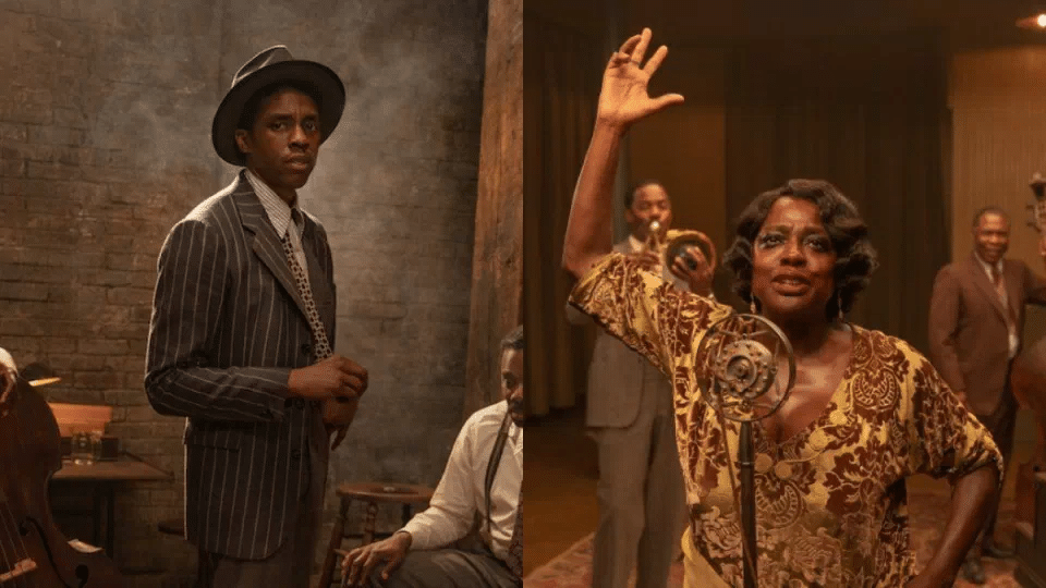 Chadwick Boseman e VIola Davis em 'A Voz Suprema do Blues'. Imagem: Netclix/Divulgação