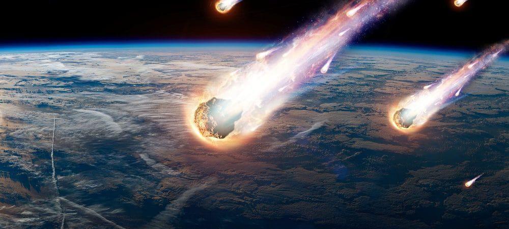 Ilustração de chuva de meteoros