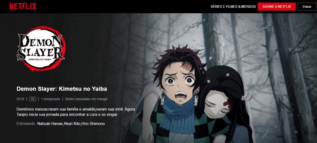 'DEMON SLAYER KIMETSU NO YAIBA' NETFLIX ESTREIA ANIMÊ DUBLADO. Imagem: Netflix/Reprodução
