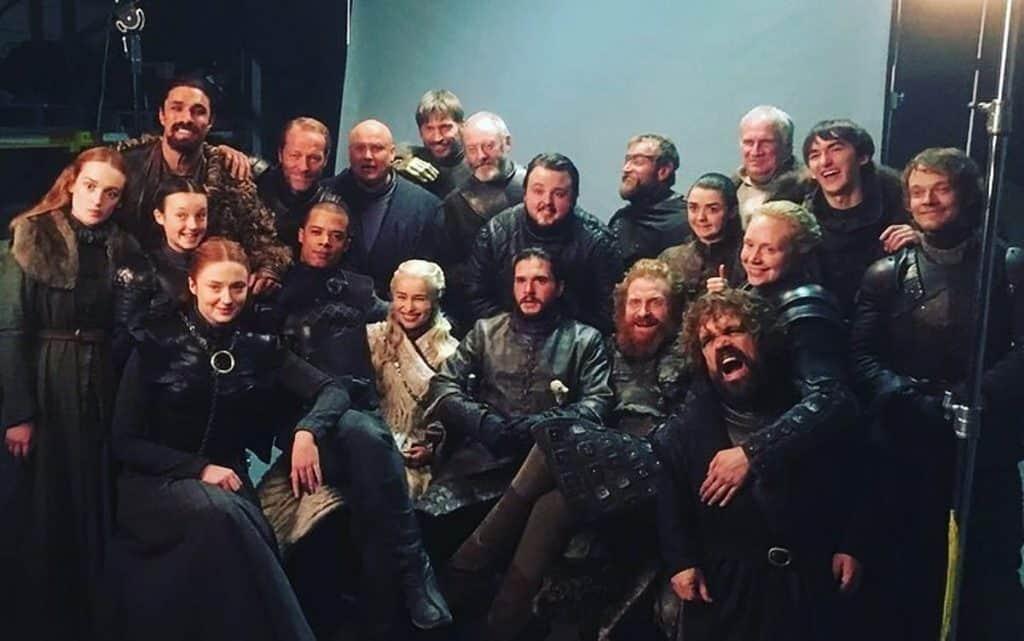 Elenco da oitava temporada de 'Game of Thrones' reunido. Imagem: Instagram/Reprodução