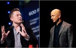 Elon Musk provoca Jeff Bezos ao conseguir contrato com a Nasa