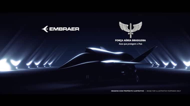 Embraer e Força Aérea assinam memorando que visa estudo de aeronaves não tripuladas. Imagem: Divulgação