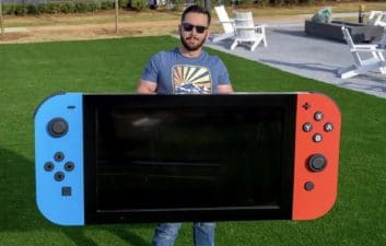 Big Game: engineer assembles the largest Nintendo Switch in the world and donates the console to the children of a hospital in the USA