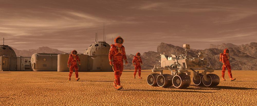 Expedição em Marte. Imagem: Shutterstock