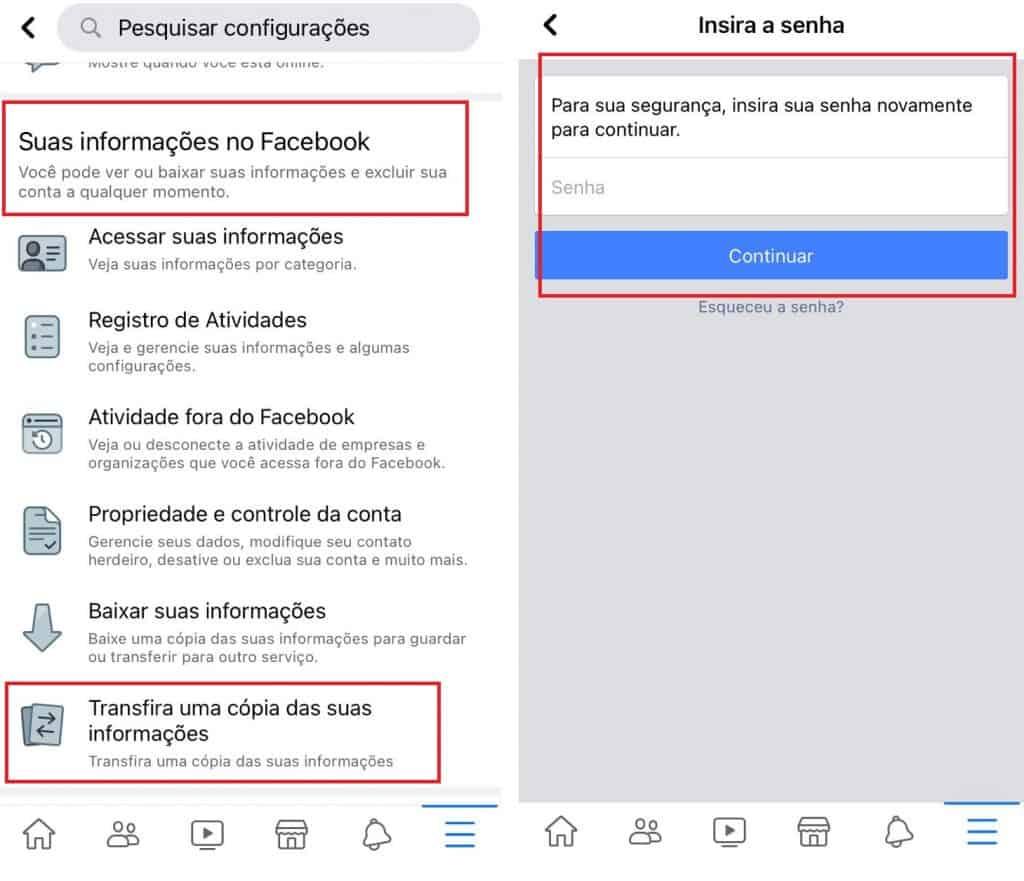 Como transferir postagens e notas do Facebook para outro app. Imagem: Olhar Digital
