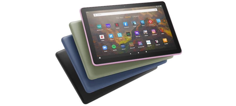 As várias cores do tablet Fire HD 10 da Amazon