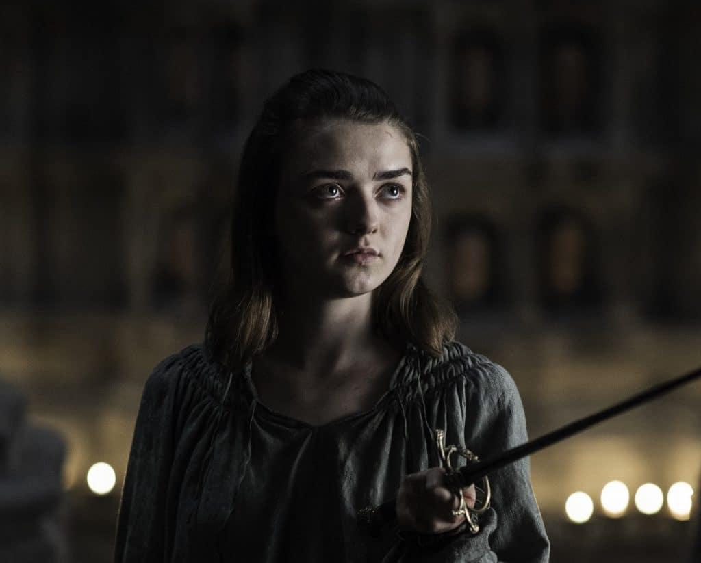 Maisie Williams (Arya Stark) em 'Game of Thrones'. Imagem: HBO/Divulgação