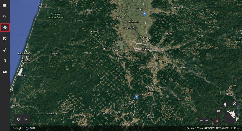 Página inicial do Google Earth