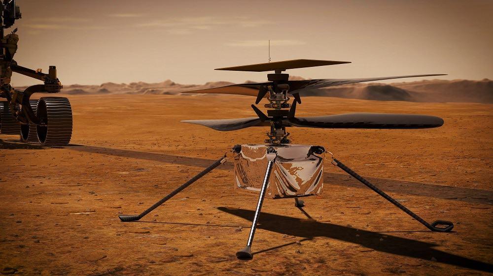 Helicóptero Ingenuity. Imagem: Shutterstock