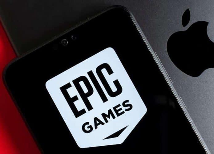 Ilustração sobre processo judicial envolvendo Apple e Epic Games. Foto: Shutterstock
