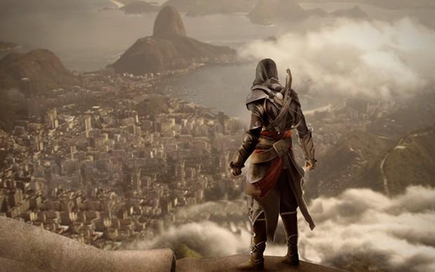 Imagem promocional de 'Assassin's Creed' feita pela Ubisoft exclusivamente para o publico brasileiro em 2012. Imagem: Ubisoft/Divulgação
