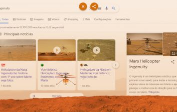 "Ingenuity: ""easter egg"" na busca do Google celebra voo do helicóptero"