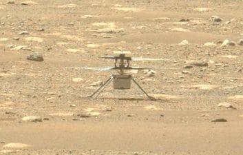 Polvo marciano: el helicóptero Ingenuity lanzó una nube de polvo al despegar de Marte