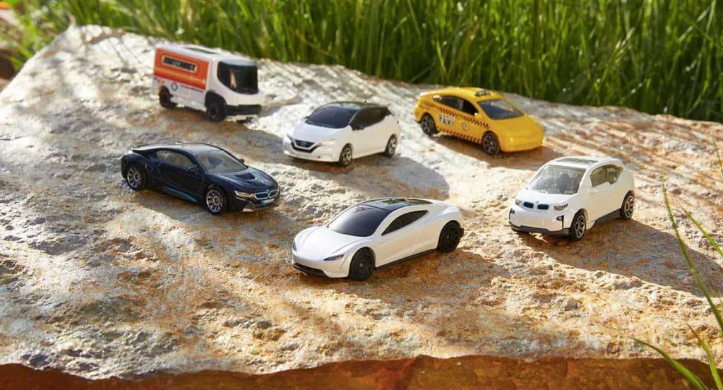 Inspirados en Tesla, los coches de juguete Matchbox se vuelven sostenibles. Imagen: Caja de cerillas / Divulgación