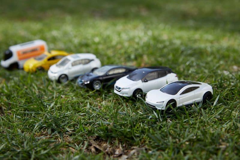 Inspirados en Tesla, los coches de juguete Matchbox se vuelven sostenibles. Imagen: Mattel / Divulgación