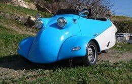 Com três rodas: carro dos anos 1950 volta movido à eletricidade