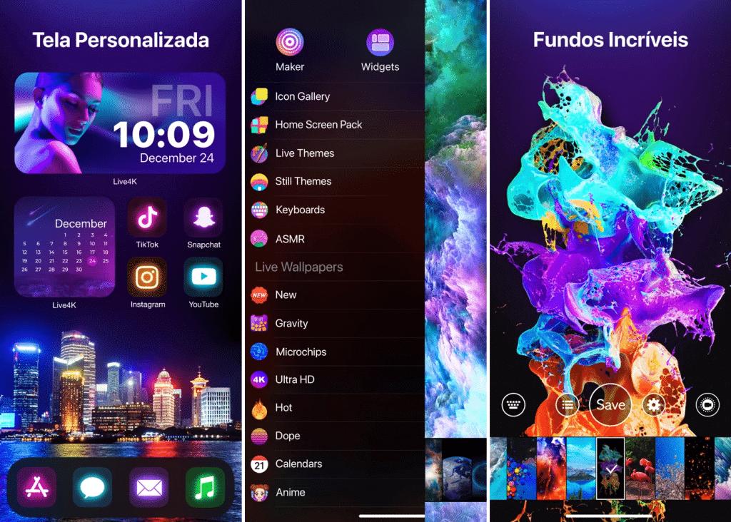 App Live4K: Papel de Parede Animado para iOS