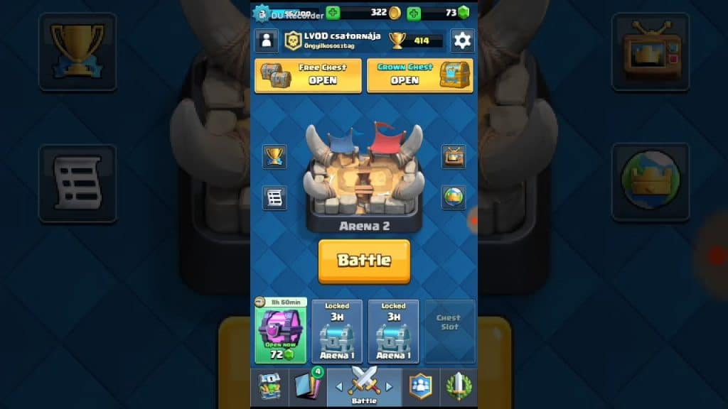 Loot boxes no jogo mobile 'Clash Royale'. Imagem: Supercell/Divulgação