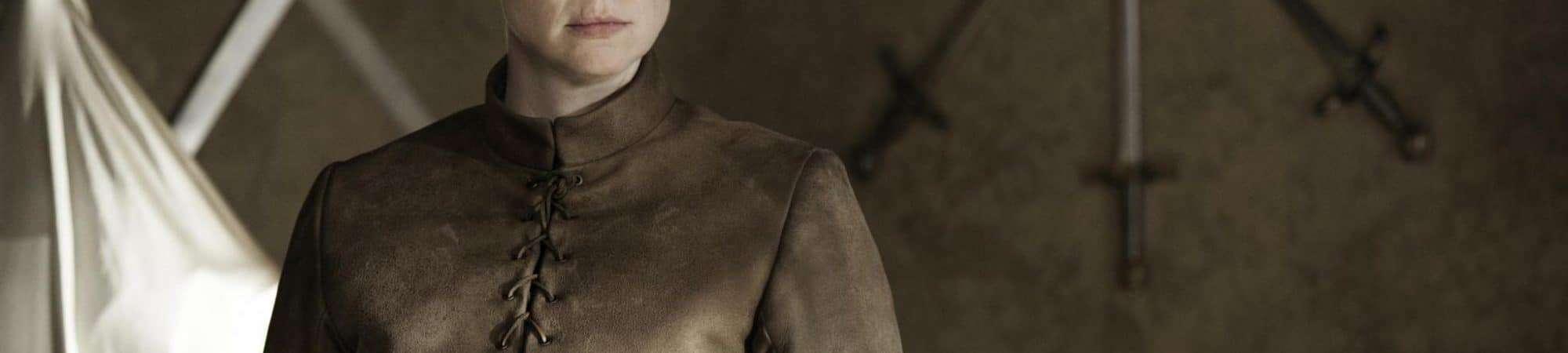 Gwendoline Christie (Brienne de Tarth) em 'Game of Thrones'. Imagem: HBO/Divulgação