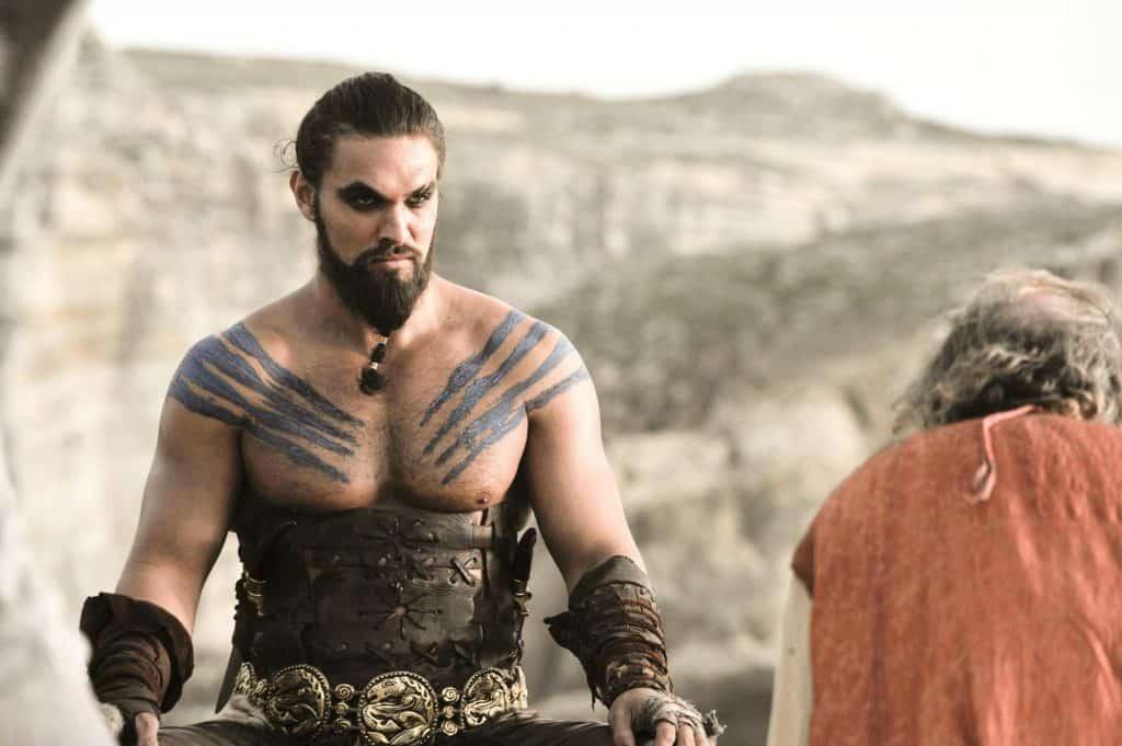 Jason Momoa (Khal Drogo) em 'Game of Thrones'. Imagem: HBO/Divulgação