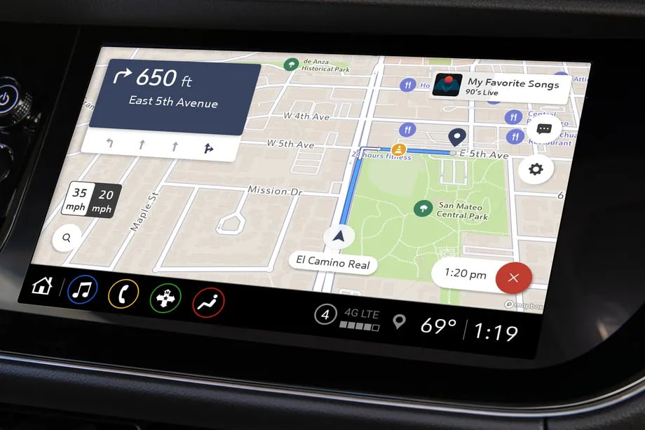 Maps Plus, el nuevo servicio de mapas de GM; Imagen: The Verge / Reproducción