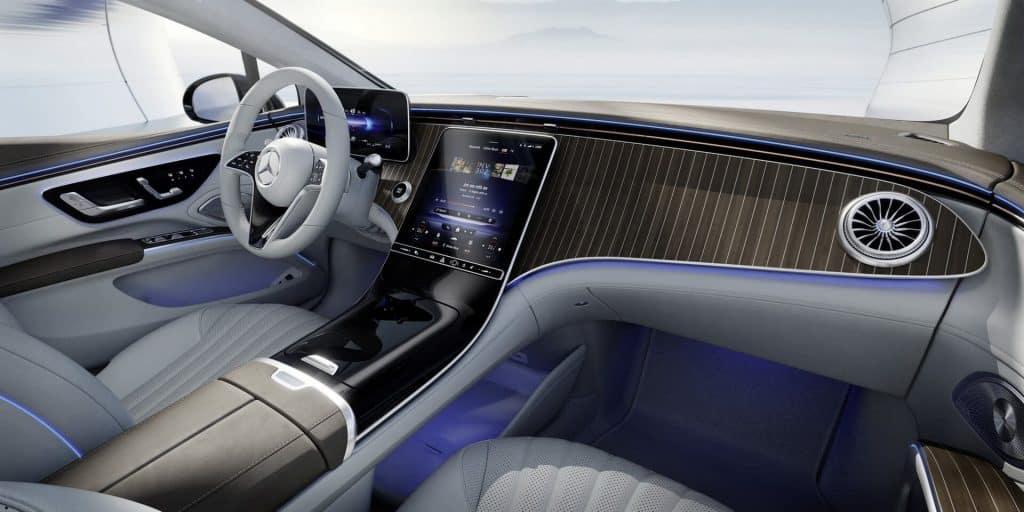 Única foto revelada do interior do Especificações do novo carro elétrico da Mercedes. Imagem: Mercedes-Benz/Divulgação