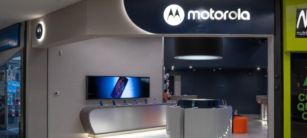 Entrada de uma das duas lojas da Motorola no Brasil