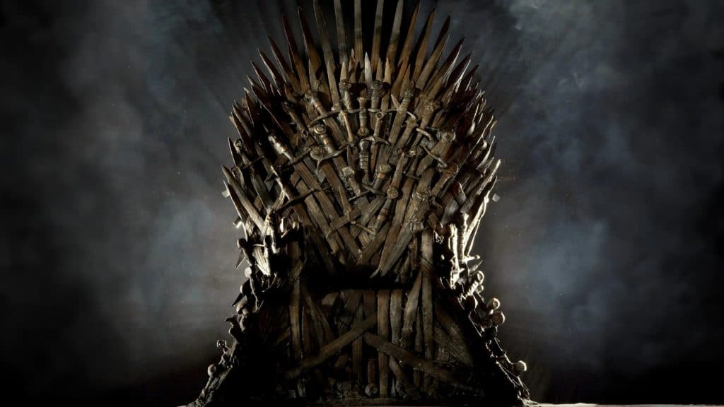 O Trono de Ferro, de 'Game of Thrones'. Imagem: HBO/Divulgação