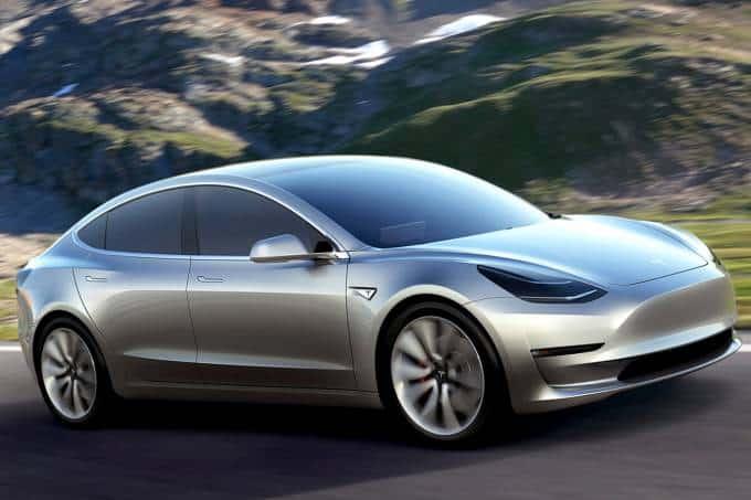 El sedán Tesla Model 3. Imagen: Tesla / Disclosure
