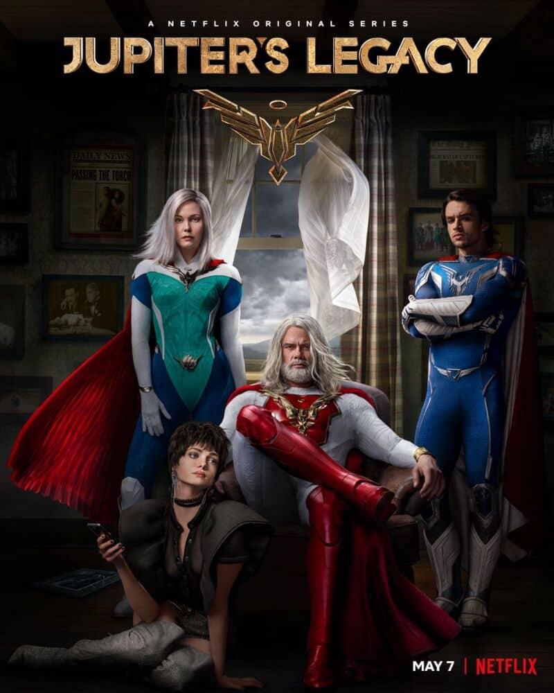 Pôster oficial de 'O Legado de Júpiter', nova série de heróis da Netflix. Imagem: Divulgação