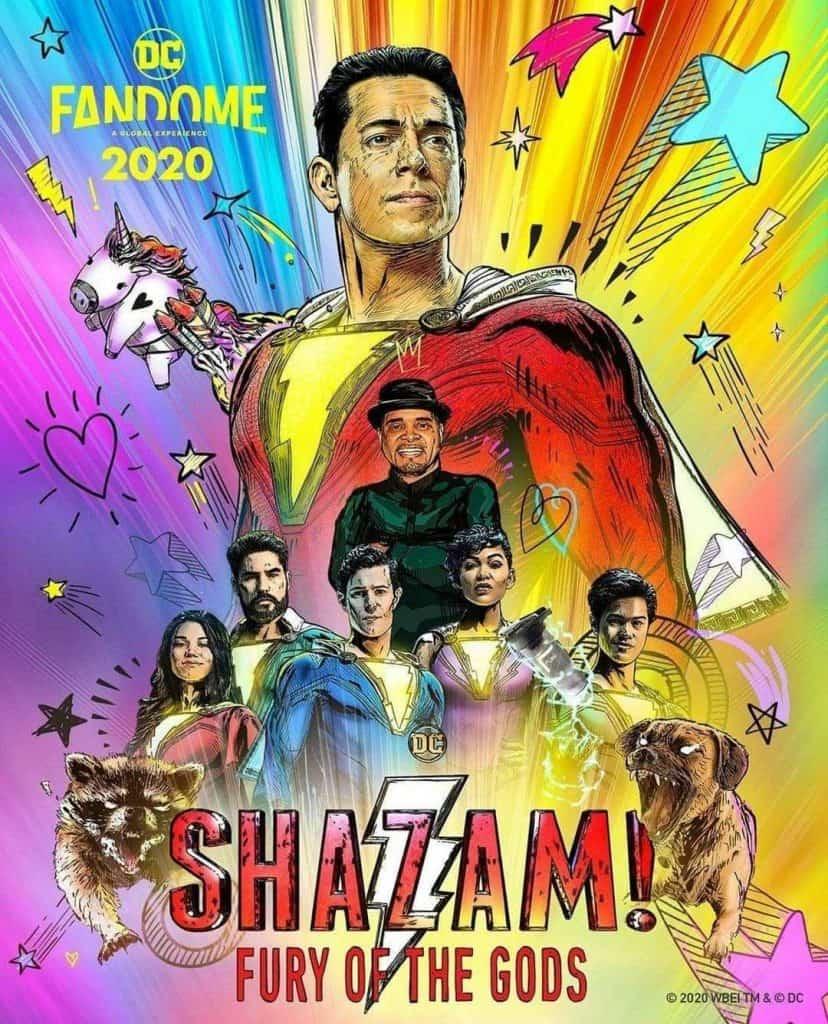 Pôster oficial de 'Shazam: Fury of the Gods'. Imagem: Warner Bros/Divulgação