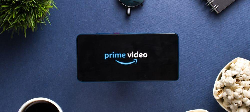 Logo da Prime Video na tela de um celular