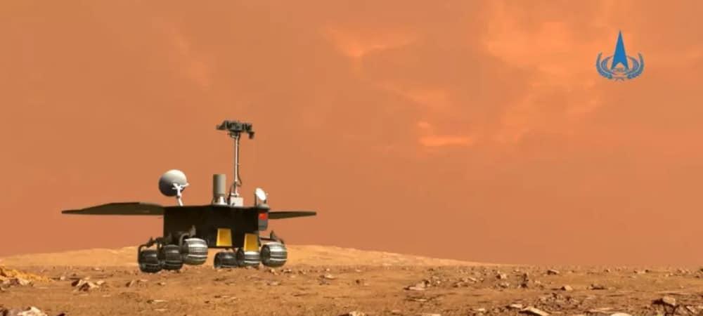 Ilustração do rover chinês Zhurong em Marte