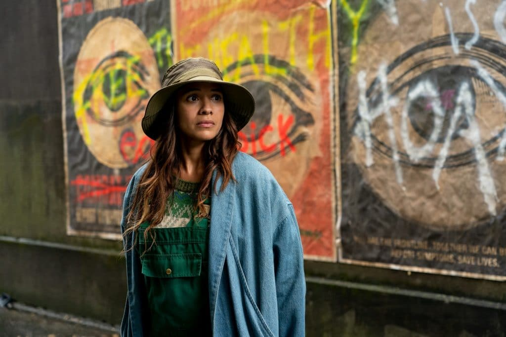 Dania Ramirez as Aimee in 'Sweet Tooth'. Image: Kirsty Griffin / Netflix