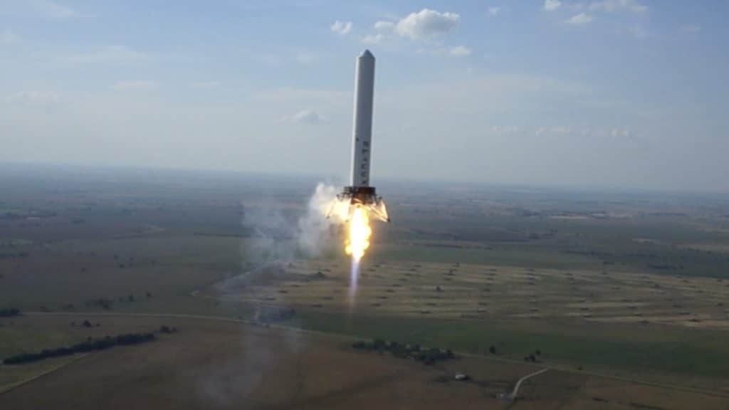 """Grasshopper, a vehicle developed by SpaceX to """"practice"""" vertical landings with Falcon 9"""