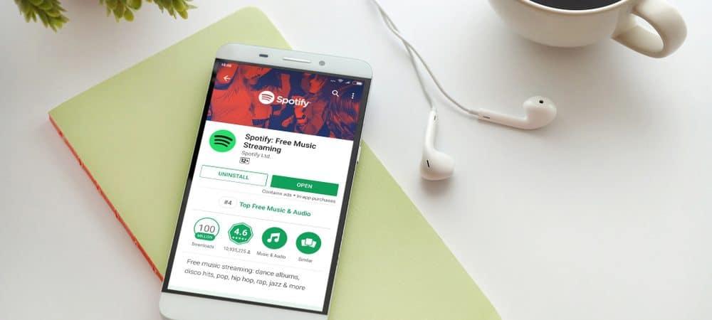 Aplicativo do Spotify aberto na tela de um celular